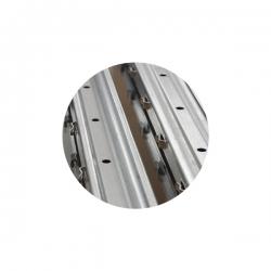 Sloupek k lesnickému pletivu 50x30x1,5 mm, výška 210 cm