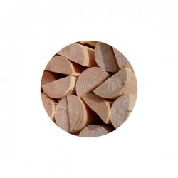 Dřevěná půlkulatina, výška 200 cm, průměr 8 cm