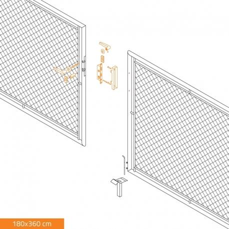 Brána dvoukřídlá zahradní GARDEN 3600x1800 mm, se zámkem