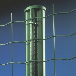 Sloupek s profilem pro svařovaná pletiva, 220 cm, 48 mm