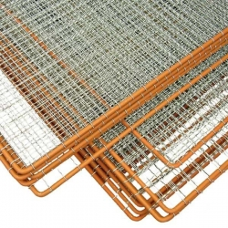 Plotové pole se žebírkovým výpletem 1000x2000 mm, oko 30x30 mm