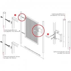 Branka jednokřídlá zahradní PILGATE 1150x1100 mm