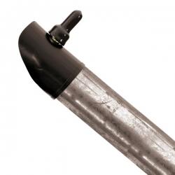 Plotová vzpěra pozinkovaná 38 mm, výška 240 cm