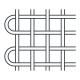 Kovová tkanina bez povrchové úpravy Fe, oko 2x2 mm