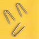 Skoby pozinkované (telegrafické svorky) Zn, průměr 3,40 mm