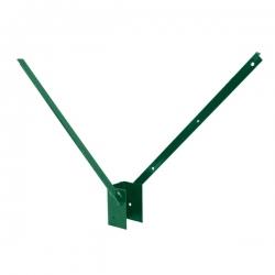 Bavolet Al+PVC na hranatý sloupek 60x40 mm